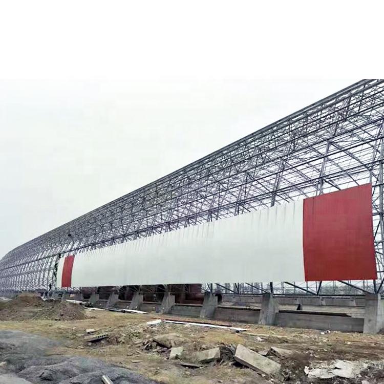 carbone capannone di stoccaggio disegno thermal power plant space frame griglia carbone capannone tetto