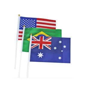 Custom World Tasse Hand Fahnen auto flagge für Fußball Fans hand winken flagge