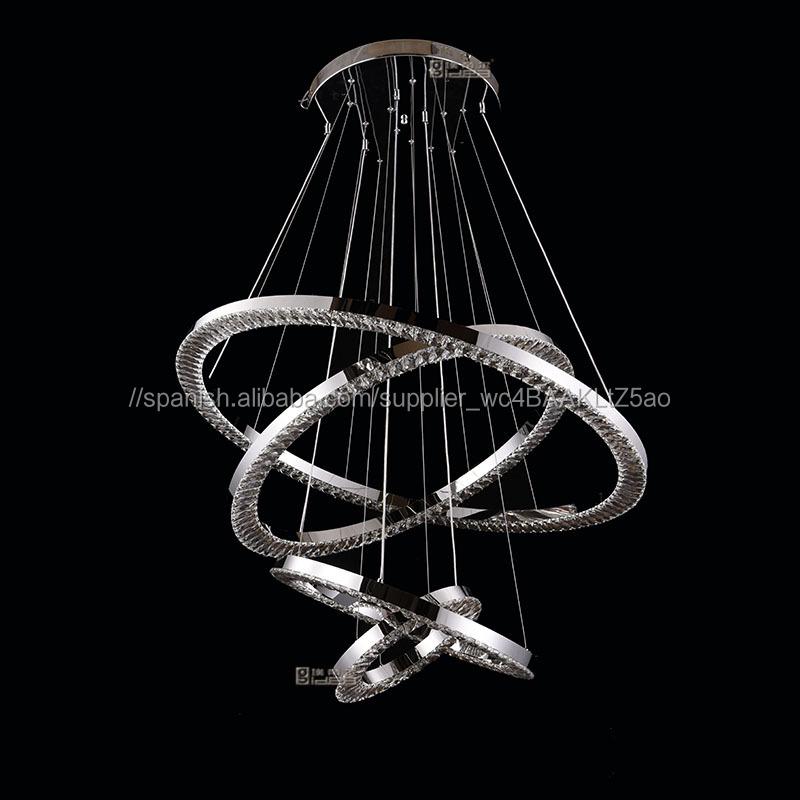 3 anillos K9 de cristal de waterford piezas de la lámpara