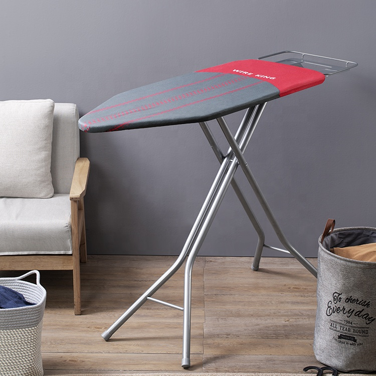 China Top Suppliers Adjustment Folding Steel Mesh Ironing Board with Iron Rest Heat Resistant Ironing Mat