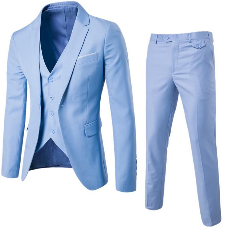 Heiße Verkäufe 9 Farben Männer Slim Fit Ein botton Hochzeit <span class=keywords><strong>Anzug</strong></span> (Blazer + Hose + Weste) <span class=keywords><strong>3</strong></span> stück Männer Business <span class=keywords><strong>Anzug</strong></span>