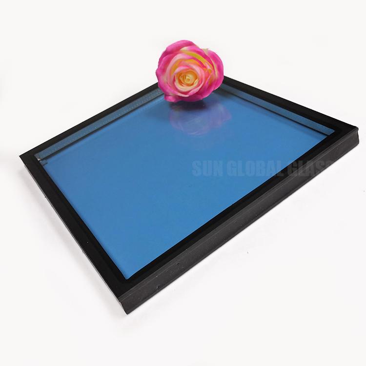 Tiết Kiệm Năng Lượng 8 + 12A + 17.52 Mm Màu Xanh Thấp E Lớp Phủ Tempered Kính Cách Nhiệt Xây Dựng Cường Lực Đôi Lắp Kính Glass