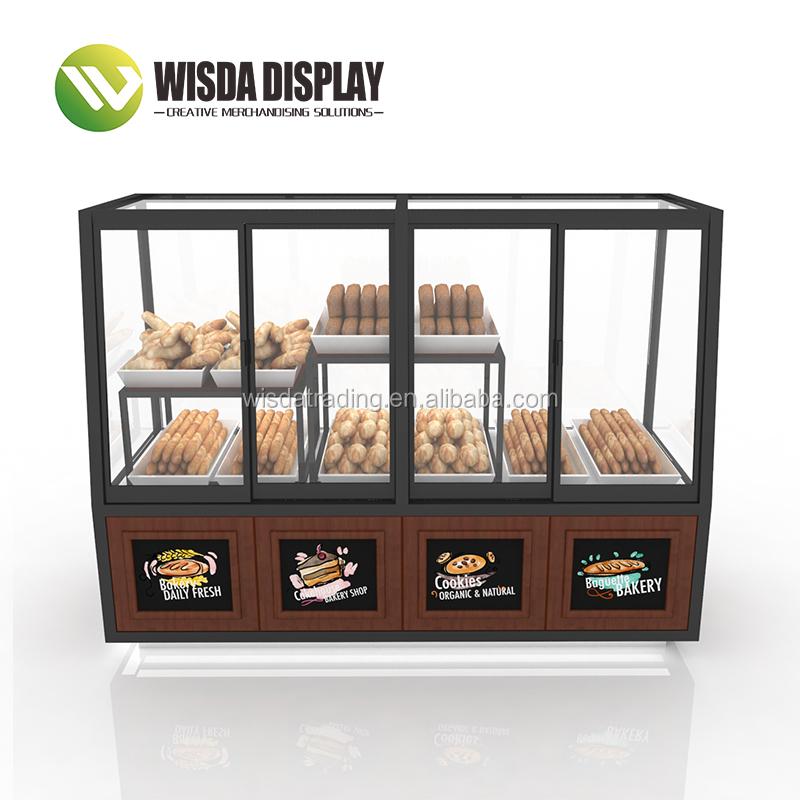 Présentoirs étagères utilisées pour commercialiser Rack En Bois Pain Meilleur Design