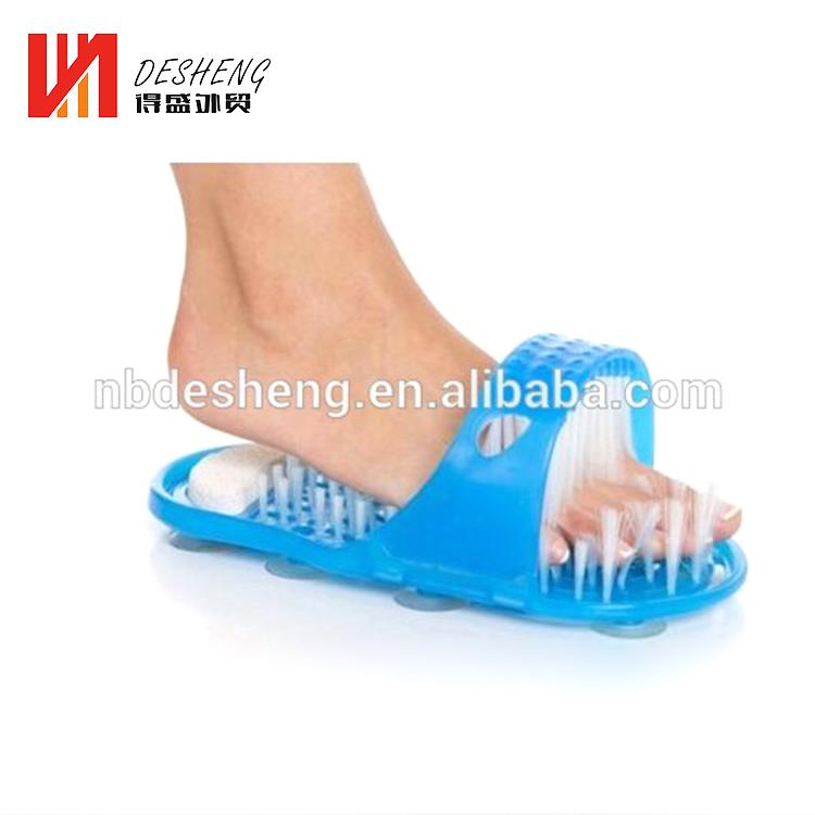 Новый пункт пластик Легко ноги душ щетка для стоп Чистые Тапочки массажер