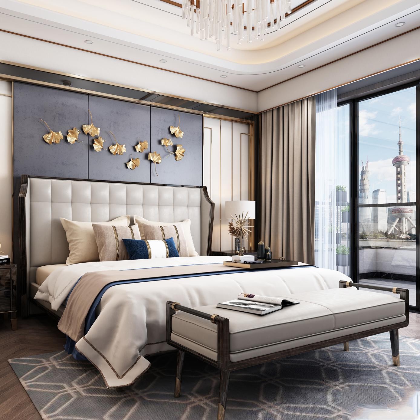 Ai Cập Phòng Ngủ Đồ Nội Thất Đôi Đa Giường Chức Năng Với Ngăn Kéo Thiết Kế