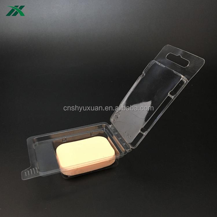Padrão pequeno clamshell <span class=keywords><strong>embalagem</strong></span> para puff facial