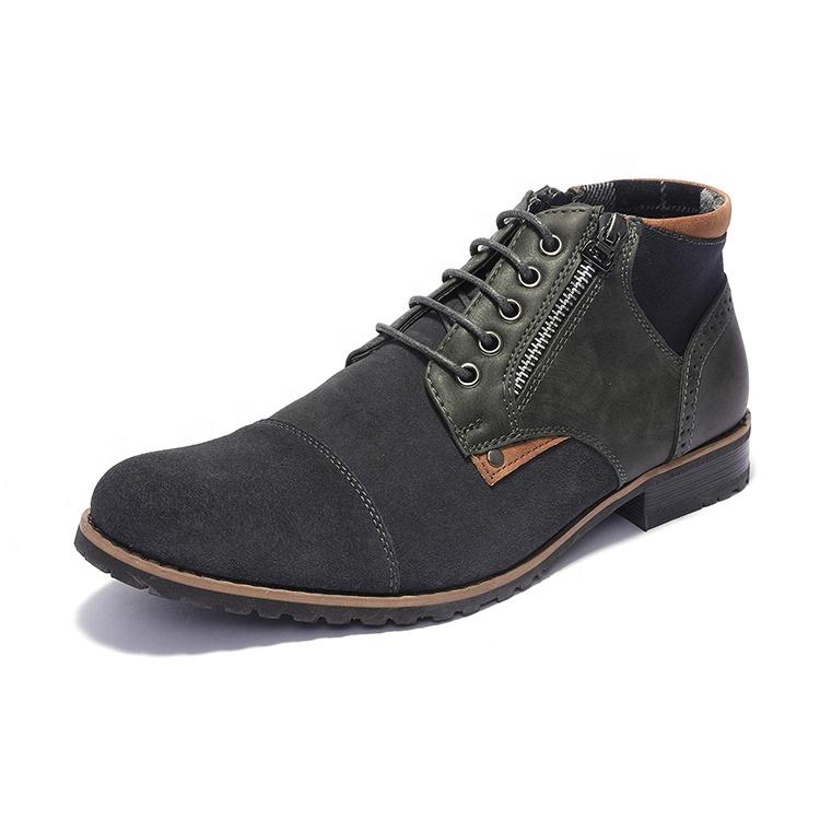En gros Hommes Bottes de Travail Chaussures En <span class=keywords><strong>Cuir</strong></span> Haut de gamme Chaussures Décontractées Hommes Cheville Bottes <span class=keywords><strong>Chukka</strong></span>