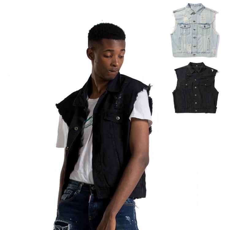 Thời trang Varsity máy bay ném bom jeans quần áo denim áo khoác nam Cộng Với Kích Thước Áo Khoác Denim Vest Áo Khoác