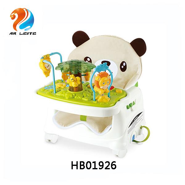 Haute qualité en plastique bébé soins de santé réhausseur N en 1 bébé chaise haute avec coussin moelleux