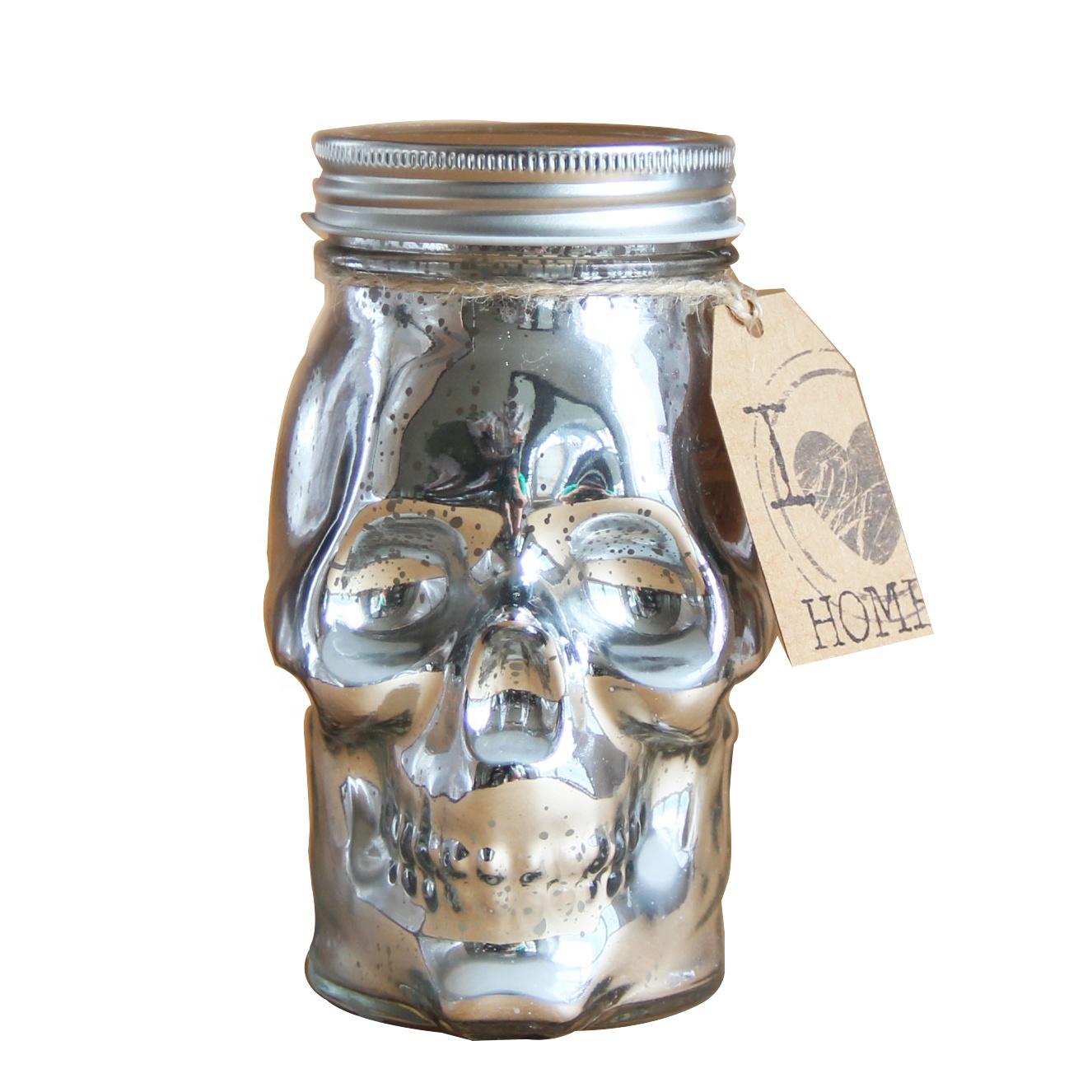 Festival da queda Promocional queda jardim halloween prata metálico vela crânio atacado