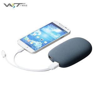 Pebble Đá Ngân Hàng Điện 7800 mah Kép USB Li-Polymer Battery Charger Sạc Du Lịch ngân hàng Điện