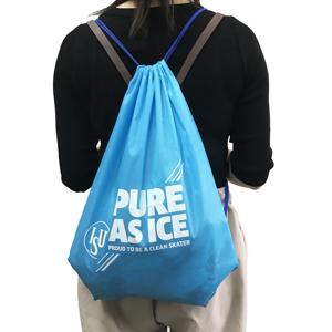 70D de nylon de algodón y poliéster con cordón bolsa de la escuela para los niños