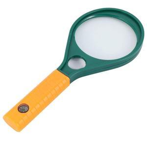 6x 10x المزدوج عدسة المكبر 50 مللي متر/60 مللي متر/75 مللي متر/90 مللي متر مقبض مكبرة نظارات ، المكبر مع البوصلة