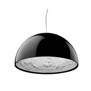 Cielo jardín luz lámpara colgante lámpara negro/blanco de metal de hierro candelabro moderno resina colgante de luz