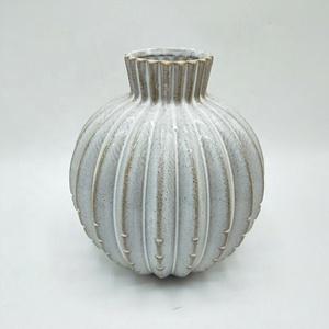 Керамика белый шар ваза настольная украшения вазы