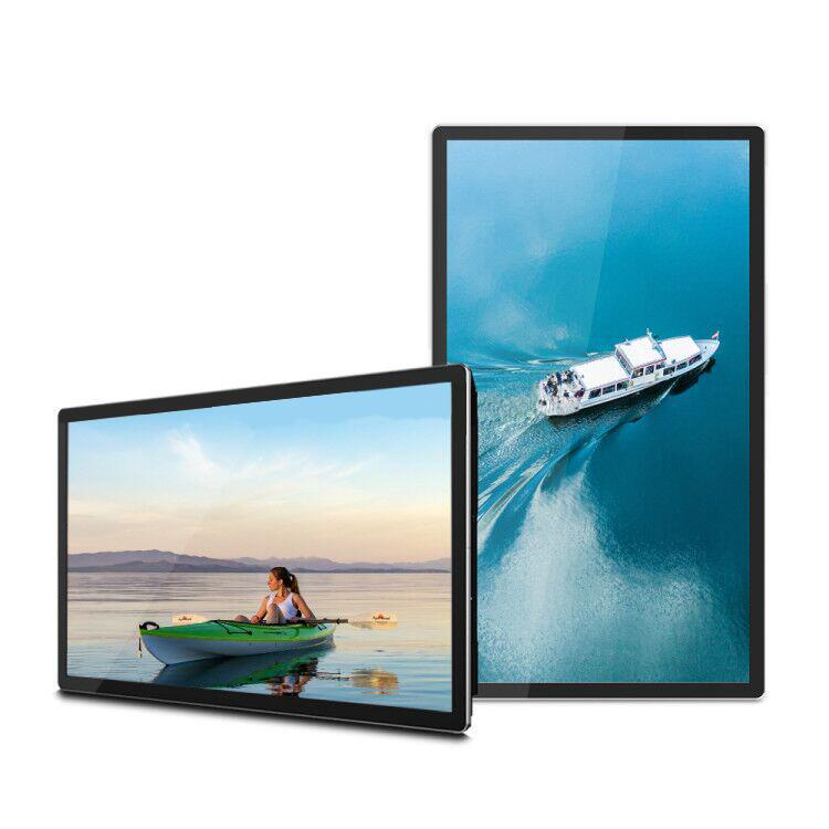 Indoor wandmontage dual einzelhandel shop mall interaktive touch screen monitor cloud software kleine motion sensor live tv mini <span class=keywords><strong>taxi</strong></span>
