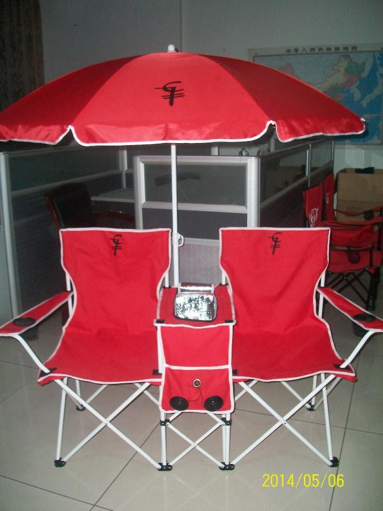 Outdoor Folding Double Camp Chair Folding Beach Chair