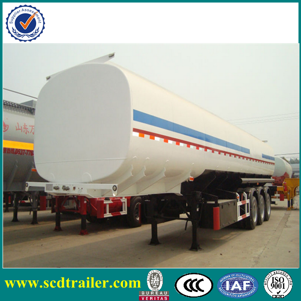 45000L stainless steel 3 axle fuel tank and tanker truck trailer