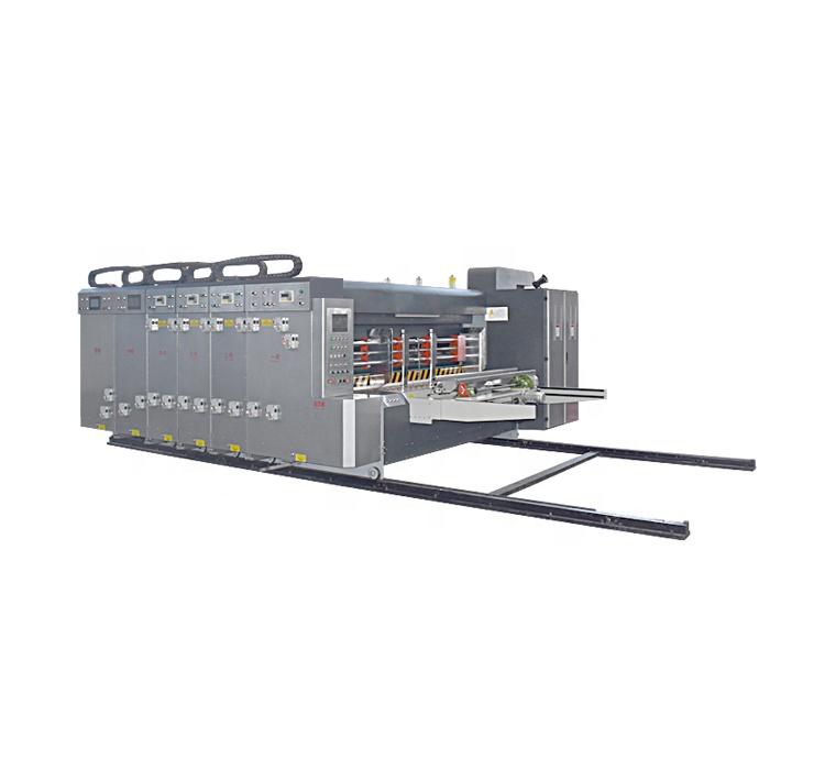 Precios competitivos caja de cartón automática ranuradora de impresión de la máquina de corte
