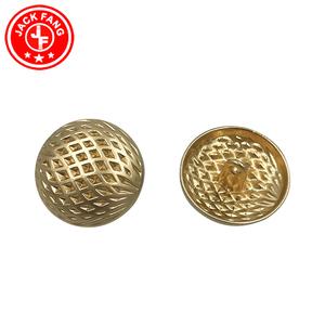 عالية الجودة مخصصة معدن مطلية بالذهب الجينز زر منقوش خمر المعادن شانك