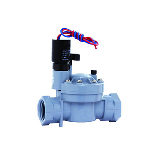 Dc24v пластик ПВХ двухстороннее нормально закрытый 3/4 дюймов орошения воды электромагнитный клапан