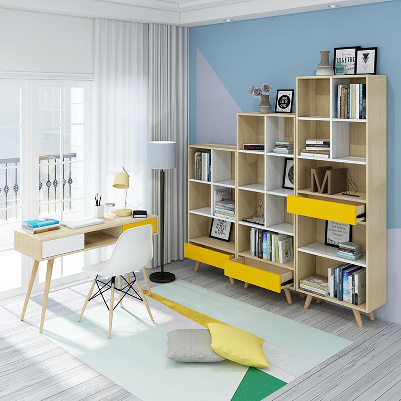 佛山工場近代デザイン可動本棚棚ブックキャビネット研究テーブル家庭用家具