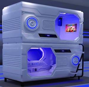 ABS 호텔 하이 엔드 디자인 침대 소음 방지 캡슐 가로 호텔 더블 침대