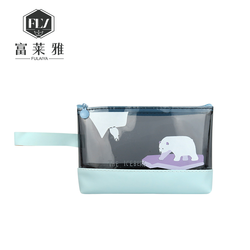 Oem pu leather pvc cosmetic bag 아름다움 pouch 빈 메이 컵 kit