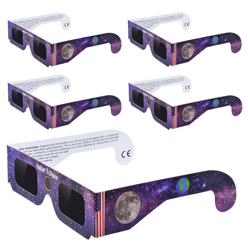 Ciyuan 3d紙日食メガネ、カスタマイズされたデザイン視野日食メガネ2018
