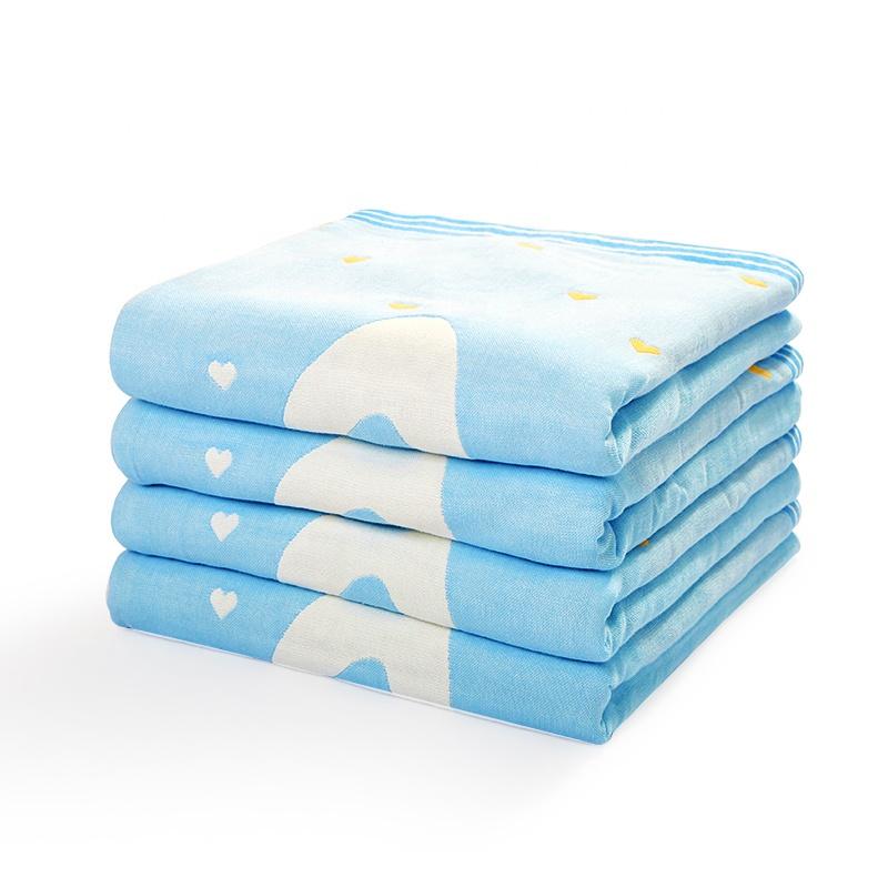 Vente chaude 4 couche modèle de dessin animé bébé couette 100% coton peigné bébé couverture mousseline swaddle couverture
