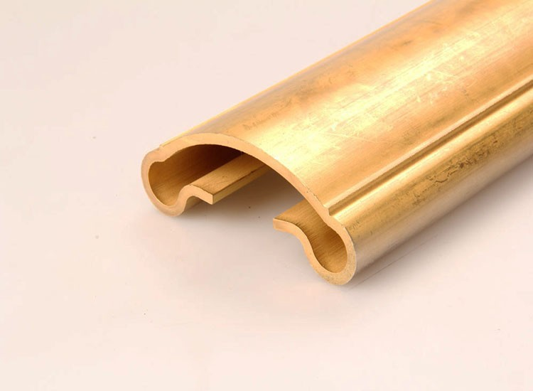 Something like decorative brass strip