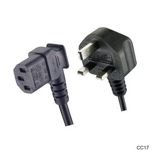 UK BS APROBACIÓN 3 Pin 220 V AC macho a IEC C13 ordenador portátil Cable de extensión Dell Cable de alimentación con 13A fusible