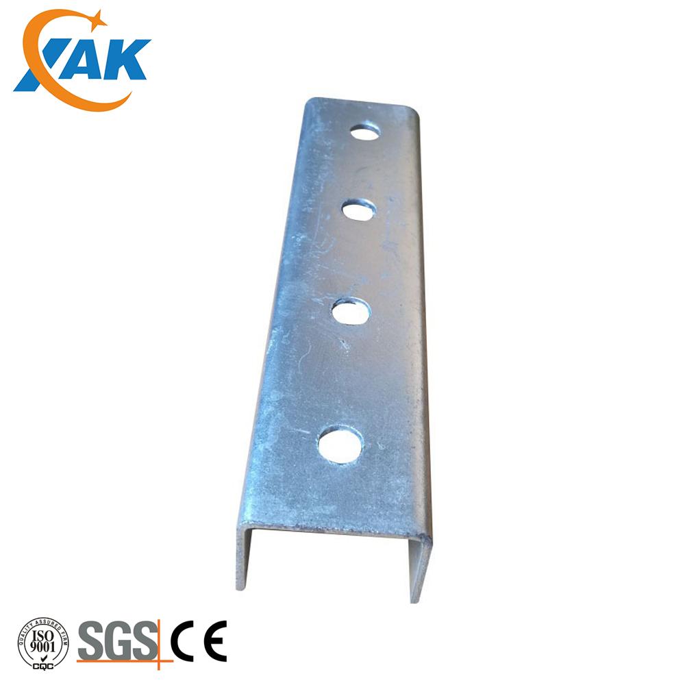 Acciaio zincato Puntone Canale U con Intaglio e Pregalvanized Supporto In Acciaio Puntone Canale