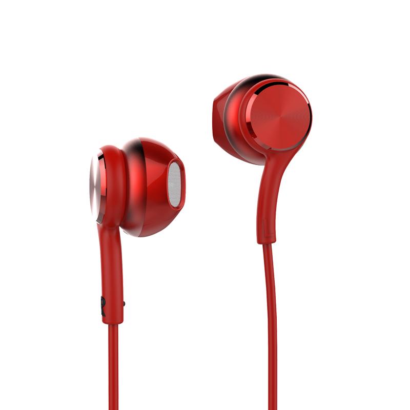 Promocional enchufe de auriculares de 3,5mm con cable de control de auriculares para mp3 mp4 los teléfonos móviles con micrófono