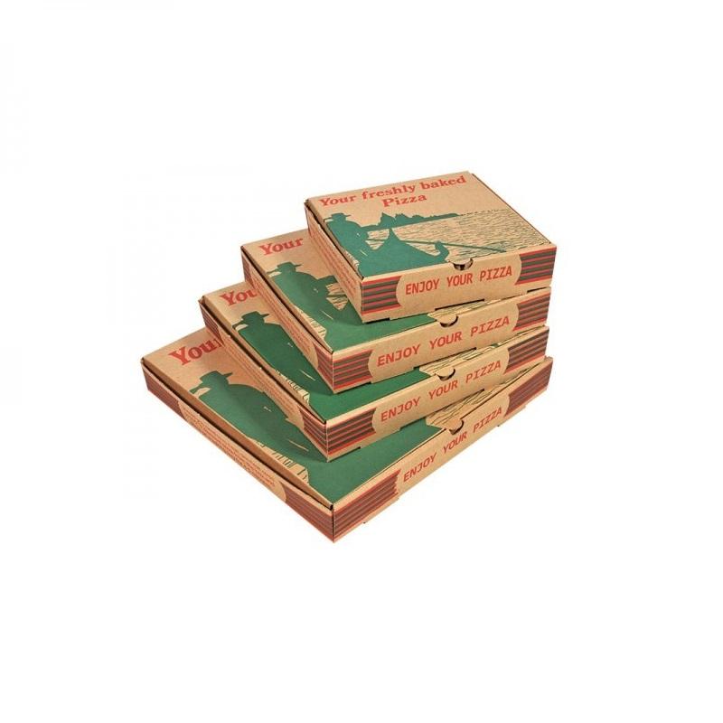Гофрированная бумага оригинальная коробка для пиццы дюймов
