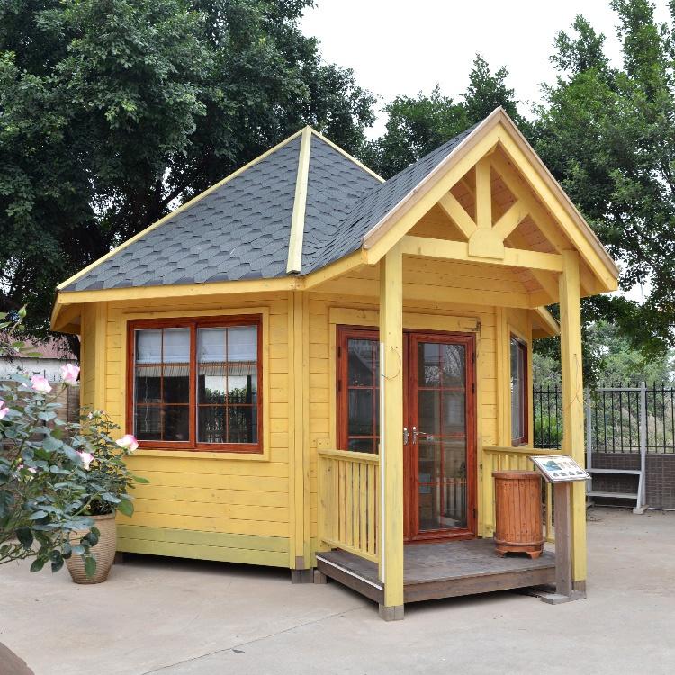 Urlaub einzigartige octagon kleine log häuser aus holz vorgefertigte chalet holz haus tragbare log kabinen