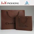 100% natural kraft bolsas de papel para la fabricación de lujo hechos a mano de papel bolsas de la compra