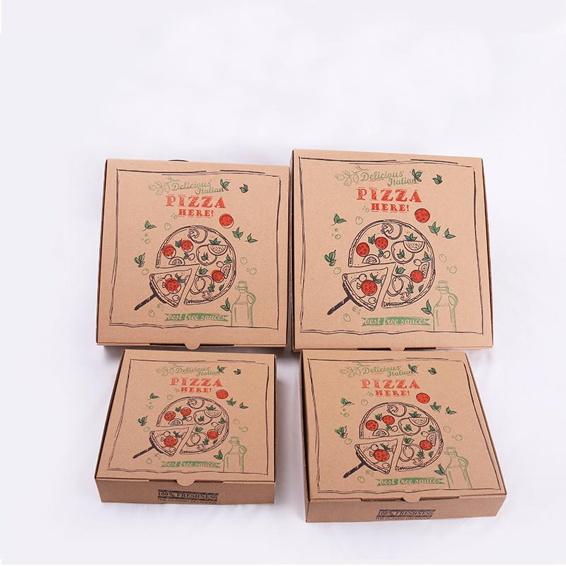 Забрать коробки для пиццы Гофрированная коробка для доставки пиццы