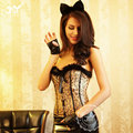 China de disfraces chica animales atractivo, traje estampado de leopardo catwomen