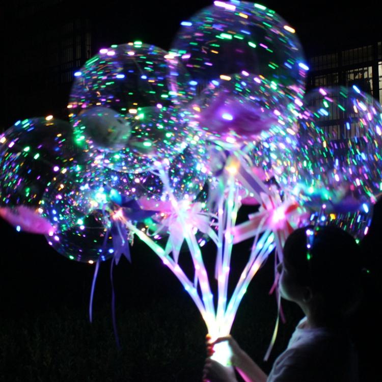 New 품 글 로보 Flashing 광 업 Led 점멸 led 빛나는 보보 어필하는 큐빅 balloon baloons 대 한 kids