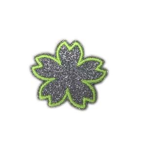 Em forma de flor brilho remendo/emblema/applique para decoração de telefone celular