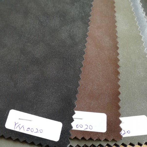 Nuevo diseño super Delgado elástico de PU de tela de cuero para chaqueta
