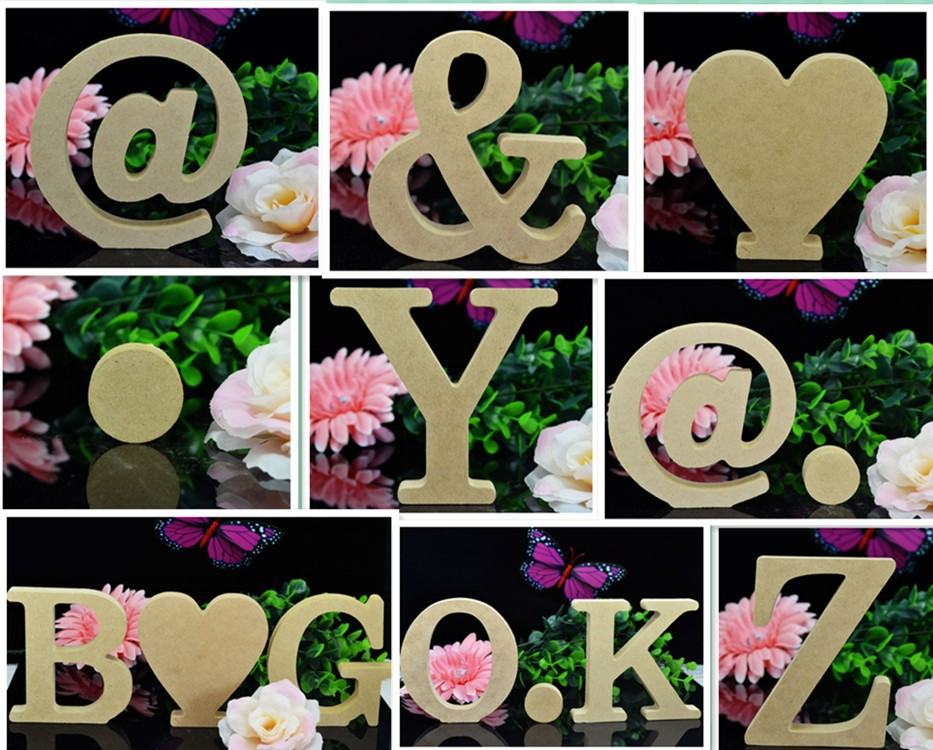 Personal Wood Wooden Letters Bridal Wedding Party Home Decoration DIY creative decorative furnishing articles