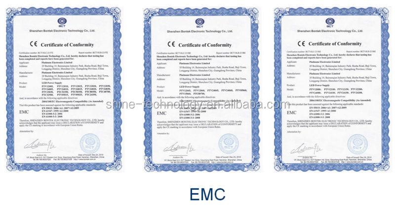 High quality CE RoHS EMC LVD 12V 100W led strip power supply, waterproof led power supply, led light power supply