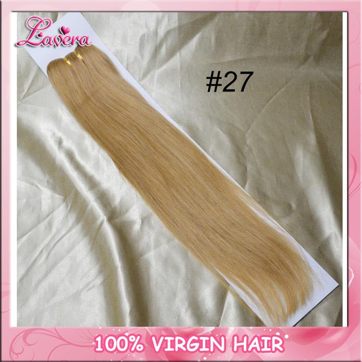 Brezilyalı insan ombre saç uzatma, renk #8#27#613 ipeksi düz insan ...