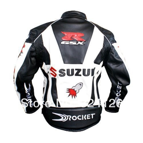 Мужская мотокуртка 1 Piece Suzuki PU Leather jacket.Motocross, racing, motorcycle, motorbike, bicycle, motor jacket / clothing h4w
