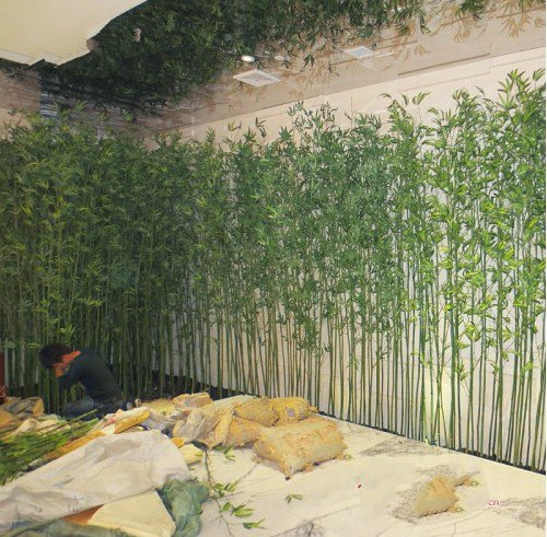 Decora es de jardim de bambu artificial bonsai para decora o artificial de plantas com folhas - Jardin de bambu talavera ...