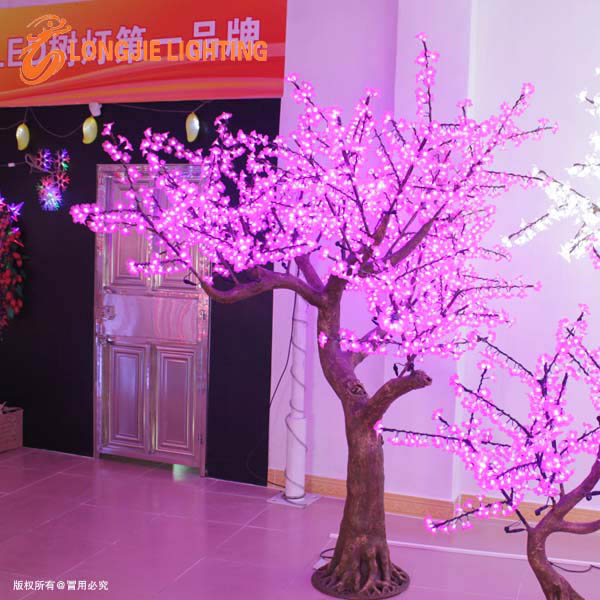 pink led light cherry tree garden decorative artificial cherry