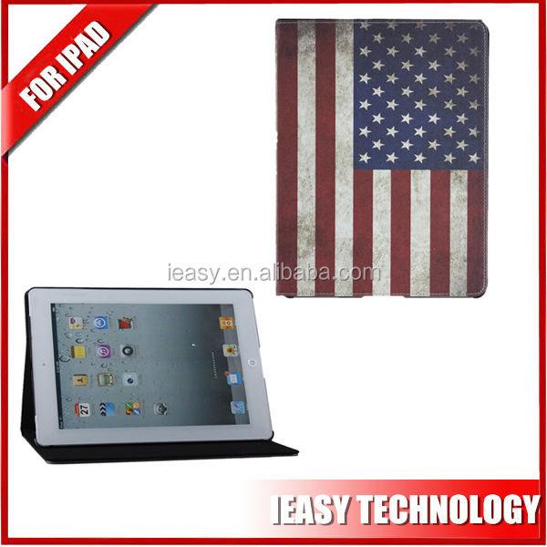 smart leather cover case for ipad mini 2 flag smart cover for new ipad mini