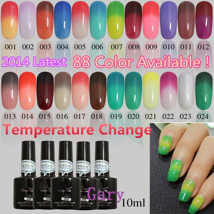 Color gel polish for nails
